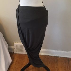 Express Long Gray Skirt Size Small Petite